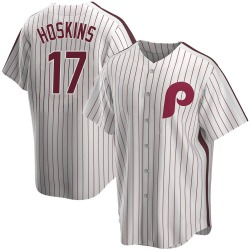 Rhys Hoskins Philadelphia Phillies Youth Replica Home Cooperstown Collection Jersey - White